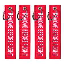 10pc Remove Before Flight Key Chain Luggage Keychain Tag Zipper Woven Embroidery