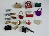 Vintage Barbie Tammy purse clutch huge lot for dolls AS IS w/ wear dirt
