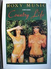 "Roxy Music - County Life & Mahavishno Orchestra,2 Sided Vintage Poster 15x10"" 82"