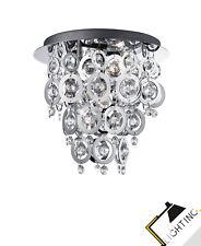 Lámpara de Techo Cristal Acrílico Cromado Anillo Techo, Nuevo Led