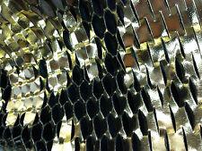 Line Cut Golden perfore mettalic GOLD GOLDEN LEATHER HIDE LAMB SKIN