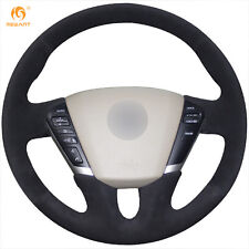 Black Suede Steering Wheel Cover for Nissan Teana 2008-2012 Murano 2009-2014