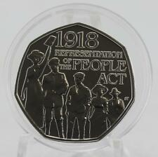 2018 Royal Mint Representation of the People 50p coin BU brilliant uncirculated