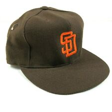 San Diego Padres Fitted Hat Cap Size 7 3/8 Brown Orange Logo New Era Diamond New