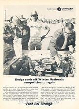 1965 Dodge Race Mechanics - Original Advertisement Print Art Car Ad J663