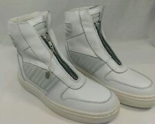 Swear 'Billie 1' Hi-Top Sneakers Zip Up White Leather Suede Mens Sz 6 (Euro 38)
