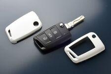 Seat Skoda VW Volkswagen Key Cover Case Skin Shell Cap Fob Protection Bag White