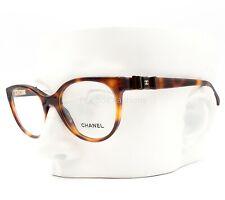 Chanel 3283 Q 1295 Eyeglasses Glasses Brown Tortoise Leather Bow 52-18-140