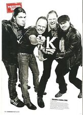 METALLICA with a Kerrang award magazine PHOTO / mini Poster 11x8 inches