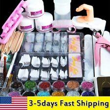 Professional Nail Art Acrylic Powder   Primer Tip Practice Tool Kits Women