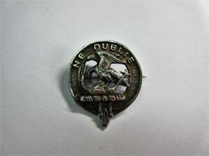 Vintage SCOTTISH Solid Silver CELTIC CLAN GRAHAM BADGE, BROOCH, PIN!