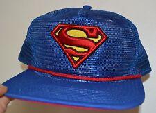Superman Logotipo Bordado Malla CAMIONERO Estilo Ajustable Gorra Con Licencia Dc