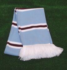 Manchester City Colours Retro Bar Scarf - Sky 97829bfa3b8