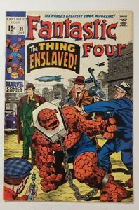 Fantastic Four #91 (6.0) FN Oct 1969 1st Appearance of Torgo - Lee/Kirby!
