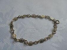 Silver Flower Chain Bracelet