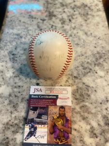 KEN BOYER JOE HAGUE Signed Autographed Baseball Ball JSA COA CARDINALS