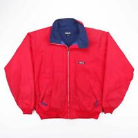 Vintage PATAGONIA Made In USA Red Fleece Lined Outdoor Bomber Jacket Mens Size L
