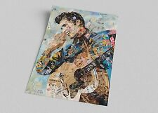 ACEO Celebrity Elvis Presley Clip Pop Art Canvas Giclee Print