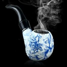 Durable Blue&White Porcelain Pipe Tobacco Smoking Cigar Pipes Significant Gift