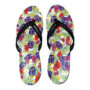 Crocs Womens Isabella Graphic Flip W Black/Floral Size 10
