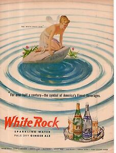 1950 White Rock Color Fairy ad  from Life