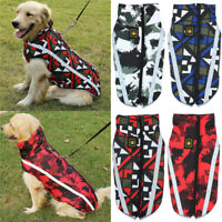 Waterproof Pet Dog Winter Warm Clothes Vest Coat Padded Jacket Large Dog L-3XL