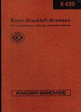 Knorr-Bremse Druckluft-Bremsen Lastkraftwagen LKW Lastzüge Kraft-Omnibusse 1953