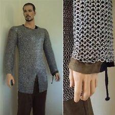 Full sleeve Chainmail shirt 9 mm ID, Wedge Rivited Flat Rings, Medium size Shirt