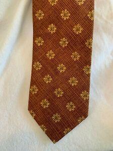 """Beautiful Ermenegildo Zegna """"linen"""" weave 100% pure silk mens neck tie"""