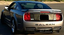 Ford Mustang Saleen Rear Bumper ABS Piano Black Letter Inserts Decals Stickers