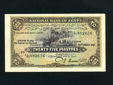 Egypt:P-10c,25 Piastres,1942 * Nile Banks * Nixon Sign * VF-EF *
