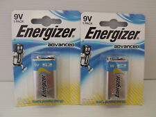 ENERGIZER Advanced 9 V - 6LR61 Alkaline - 2 packs de 1 piles - NEUF