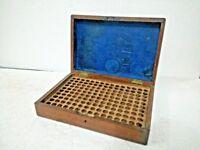 ANTIQUE  VINTAGE  WOODEN  GLASS PERFUME / MEDICAL GLASS  BOTTLE BOX