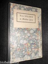 Matthew grün; die Milz-LTD 500 - 1925-Vintage Poesie, Gedichte, cayme Presse