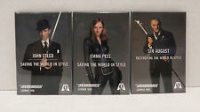 THE AVENGERS Movie Promo Button Pin Set of 3 UMA THURMAN RALPH FIENNES CONNERY
