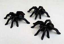 Set of 3 Cast Iron Spiders Garden Ornament Statue Metal Cute 9 cm Wall Black New
