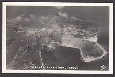 Postcard Panama aerial view of Cristobal Colon RP by Flatau of Panama