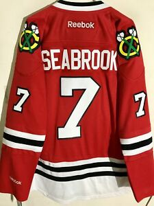 Reebok Premier NHL Jersey Chicago Blackhawks Brent Seabrook Red sz S