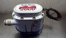 RULE Mate RM2000A - 2000 Gph Fully Automated Bilge Pump - 12v