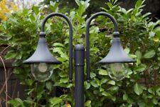 Kandelaber Außenstehleuchte Außenlampe  Wegelampe Stehlampe schwarz 2 Köpfen