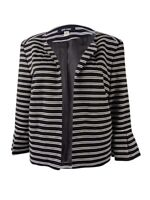 Nine West Women's  Striped Ponte Knit Jacket