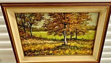 Stunning Fall Trees Impressionism Forest Fine Art Landscape Oil Painting Canvas