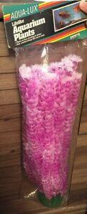 """Vo-Toys Votoys Aqua Lux Aquarium Plant 16"""" Plastic Decoration Purple pink White"""