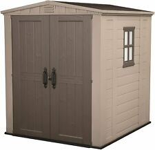 Keter Factor 6 Ft. Width x 6 Ft. Depth Apex Plastic Tool Ultra Outdoor Shed