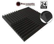 Genuine Pro-coustix Ultraflex Electric Blue Wedge Acoustic foam tiles x24 pack