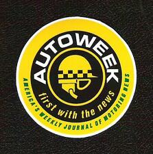 Autoweek Sticker, America's Journal of Motoring News, Sports Car Racing Decal