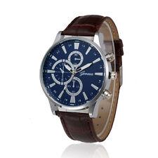2017 Fashion Mens Retro Design Leather Band Analog Alloy Quartz Wrist Watch