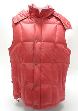 LEVI'S VINTAGE WOMENS PUFFER VEST - 100% DOWN, IN PINK/CORAL in EUC