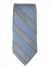 Brooks Brothers 100% Silk Blue Striped Neck Tie Made in USA