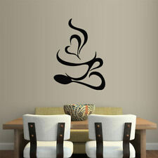 Wall Vinyl Sticker Kitchen Decal Coffee Curly Cup Hot (Z1859)